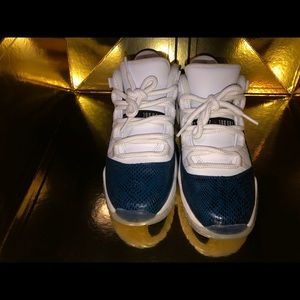 Snakeskin Blue low top Jordan 11s SZ 7Y